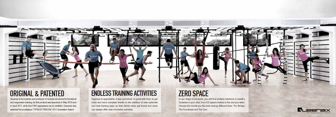 Queenax is original and patented modular fitness training framework for commercial fitness facilities.