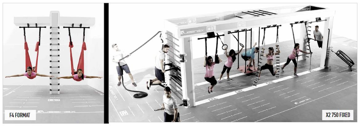 Queenax utilizes dozens of exercise formats including, among others, F4 and X2 and 750 Fixed formats.