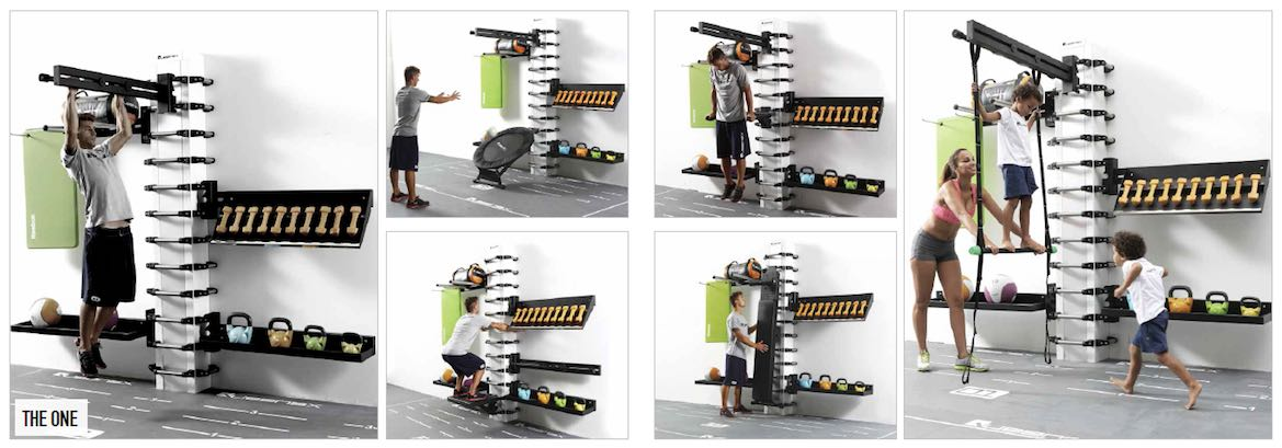 Queenax model The One is a multi-purpose exercise and training station to be used by one person.