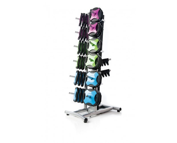 group fitness plate weight storage rack