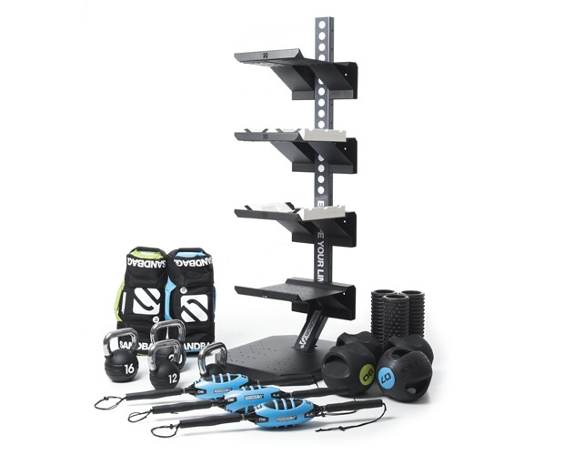 gym exercise accessories storage solution