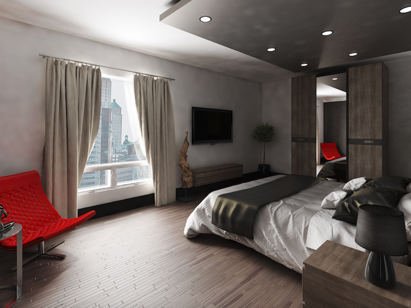 3D rendering image of a hotel amenity.