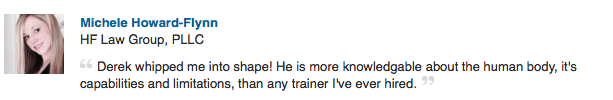 memphis personal trainer recommendation by michele