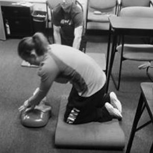 CPR class for certified personal trainers.