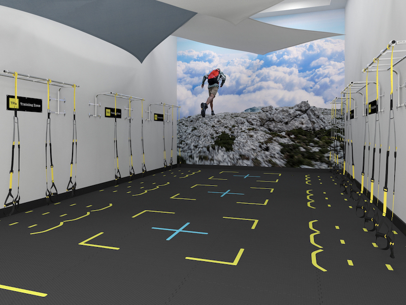 Racquetball Court Conversion for Group TRX Suspension Training