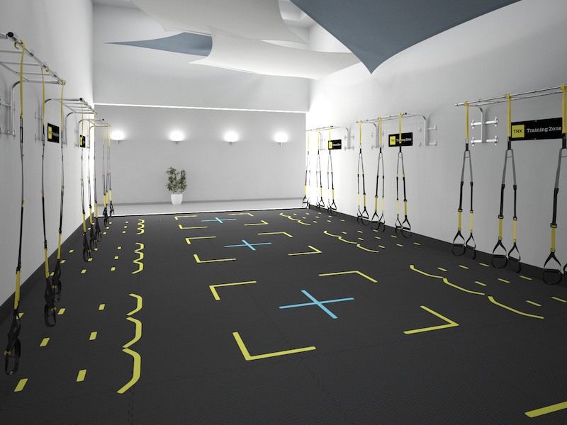 Racquetball Court Conversion for TRX Suspension Training