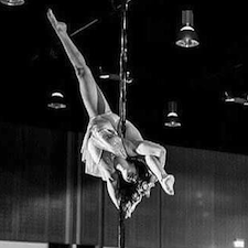 Catherine Meadley is an Aerial Fitness, Pole Arts, and Advanced Flexibility instructor in the UK.