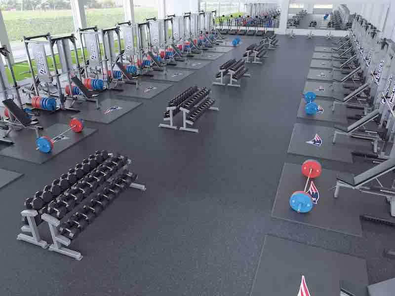 weight room design top view