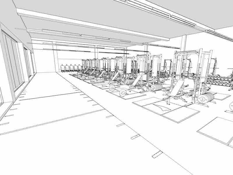 ... Weight Room Design Drawing · Weight Room Layout Drawing ...