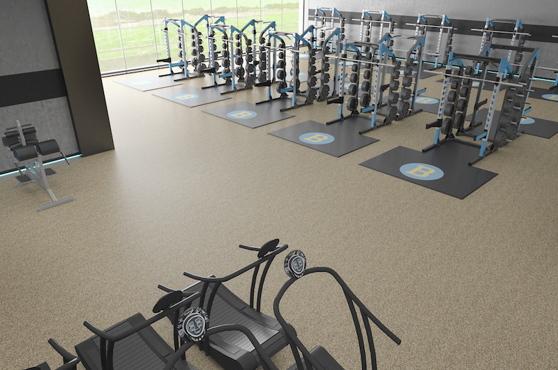 weight room flooring and design