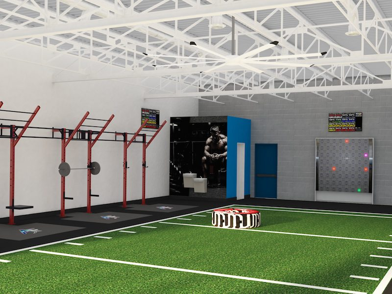 left side of the weight room
