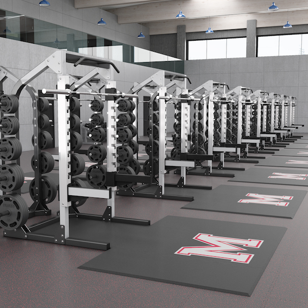 Weightlifting Platforms for College Strength Room