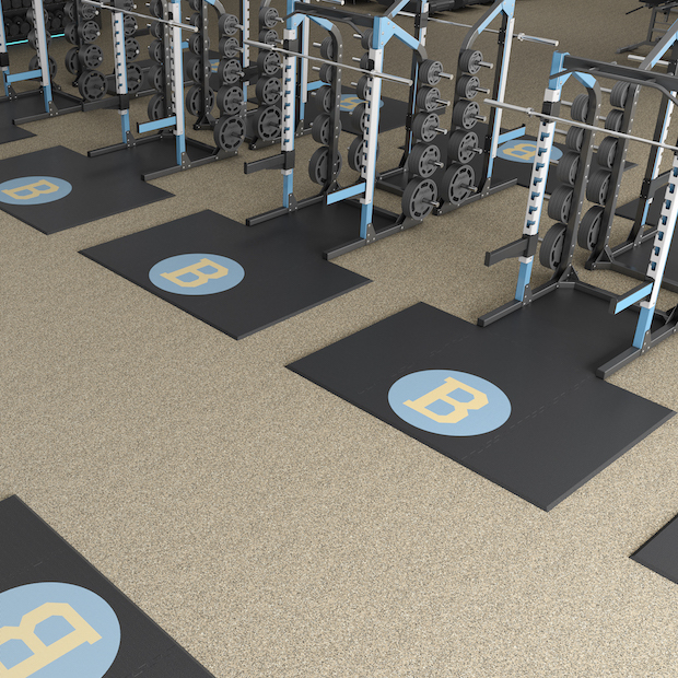 Weightlifting Platforms with Custom Inserts and Logos