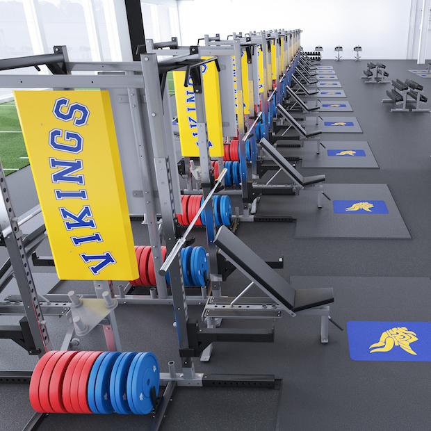 Vikings Collegiate Weightlifting Platforms
