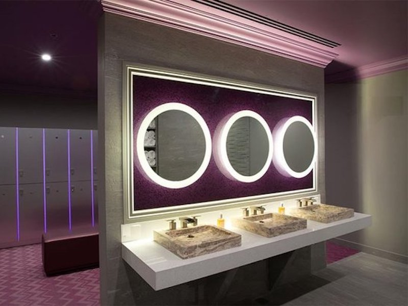 modern contemporary womens locker room design