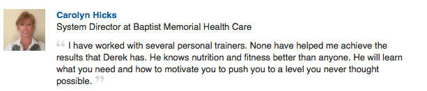most knowledgeable personal trainer in memphis recommendation by carolyn