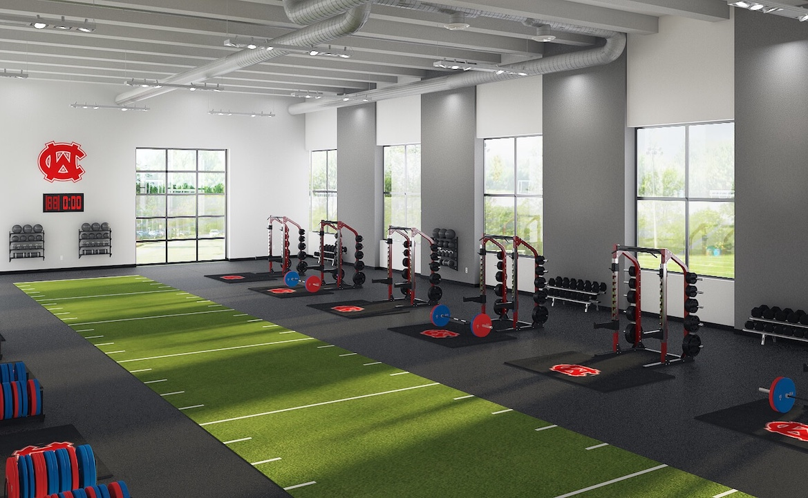 Weight room design layout a modern high school athletic weight room!